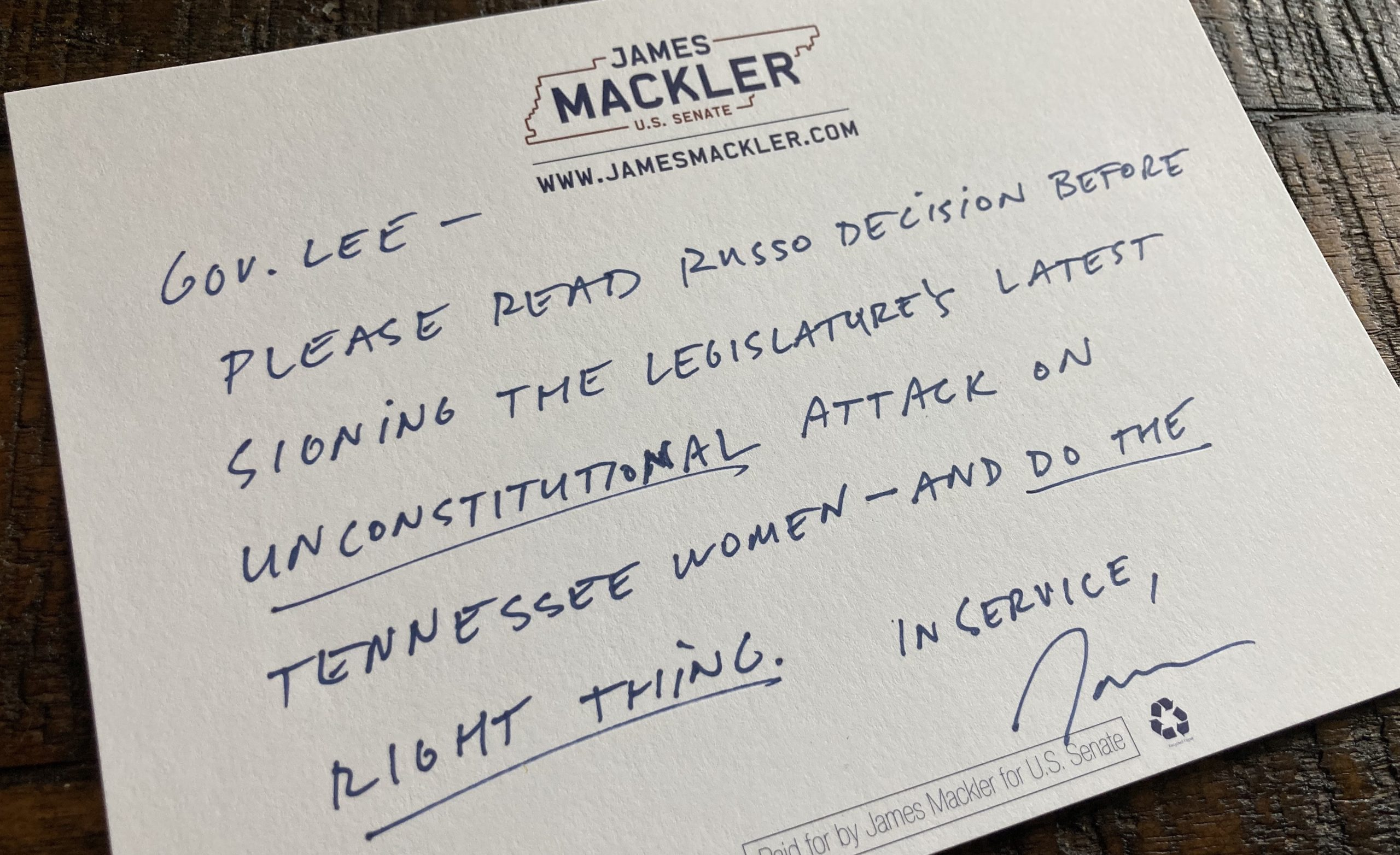 """Image for James Mackler: """"Women who cannot make their own  health care decisions are not free."""""""